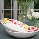Painted Garden Set Of Two Bowls