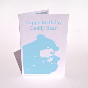 Personalised Bear And Cub Hug Birthday Card