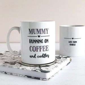 Running On Coffee And Cuddles, Mother's Day Mug - what's new