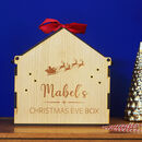 personalised reusable Christmas Eve box FSC wood
