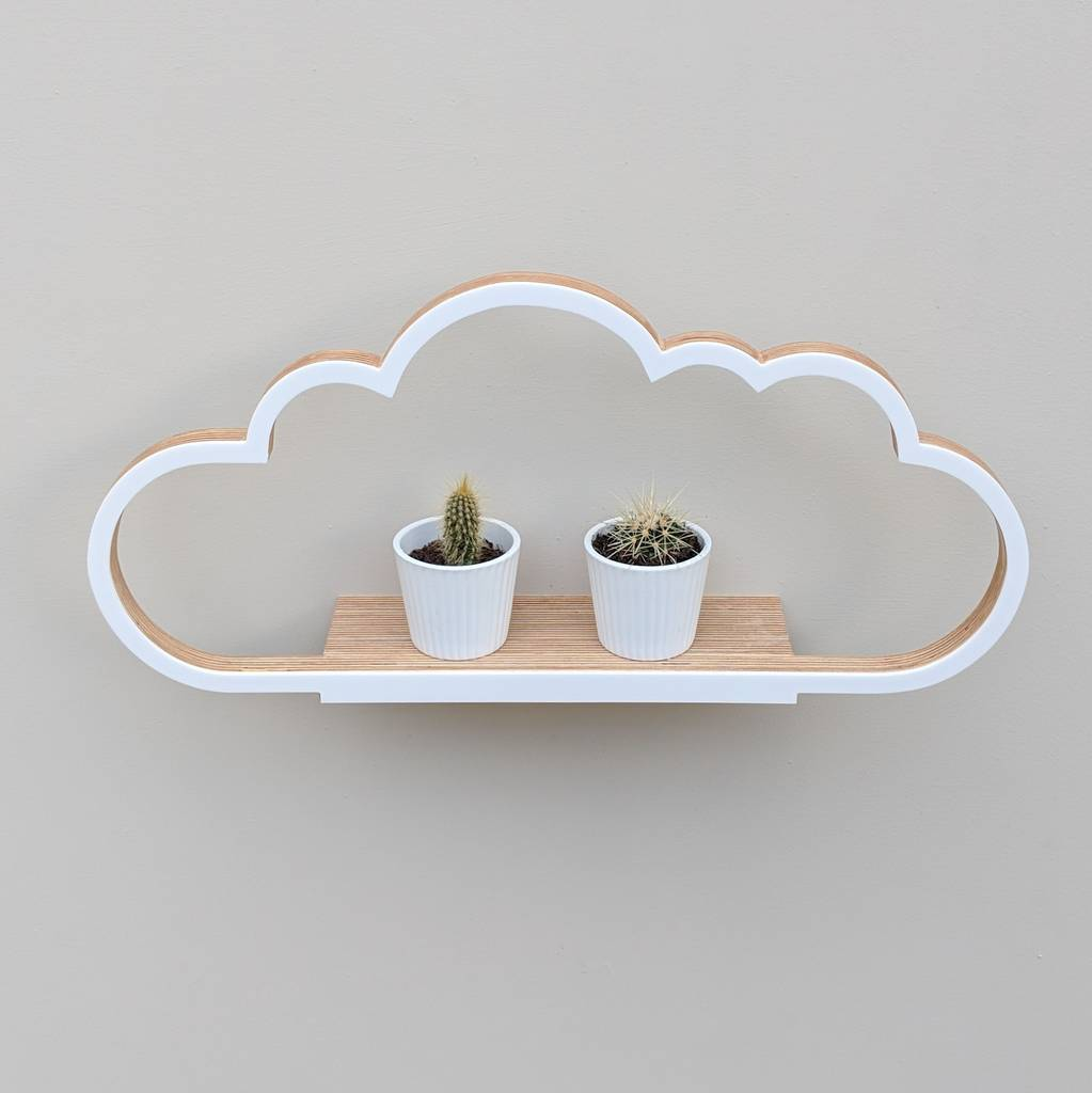 modern wooden cloud shelf by youbadcat notonthehighstreet com rh notonthehighstreet com