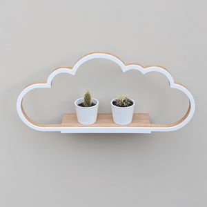 Modern Wooden Cloud Shelf