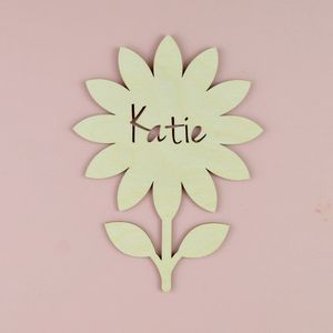 Personalised Flower Name Sign - new in home