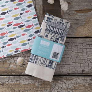 Coastal Cottages Tote Bag