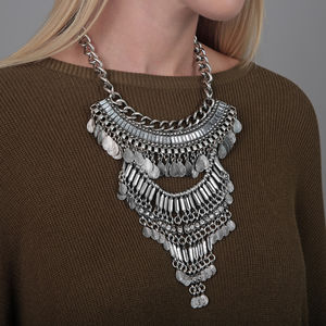 Boho Statement Shell Necklace - summer sale