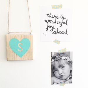 Personalised Hanging Heart