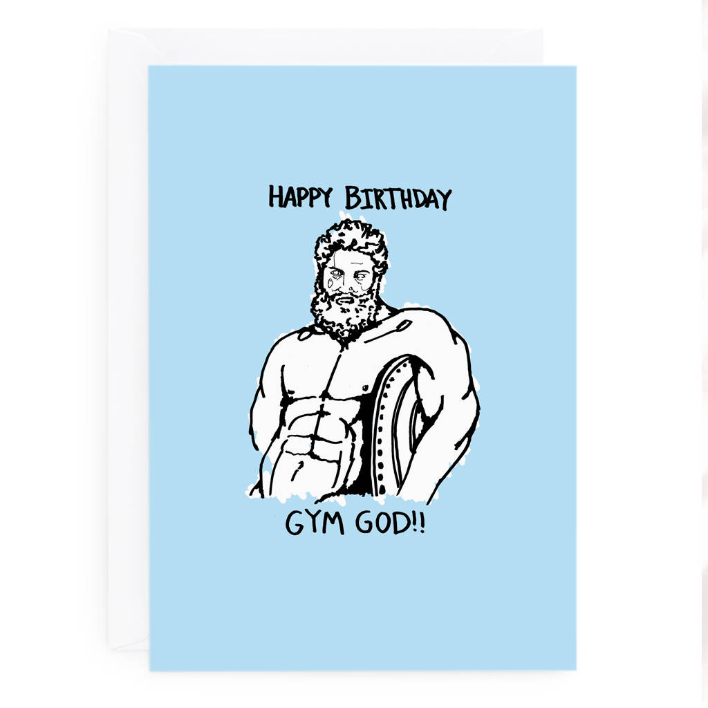 Greek god funny birthday card by de fraine design london greek god funny birthday card kristyandbryce Images