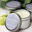 Grey And Silver Wedding Candle Favours