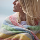 Cornish Ice Cream Herringbone Stripe Throw