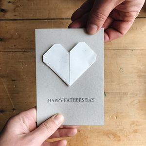 Personalised Origami Heart Father's Day Card