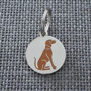 Vizsla Dog ID Name Tag