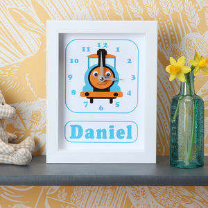 Personalised Framed Children's Clock - children's room