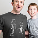 Personalised Dad Tshirt With Child's Drawing