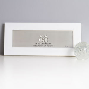 Personalised Christening Glass People Family - pictures & prints for children