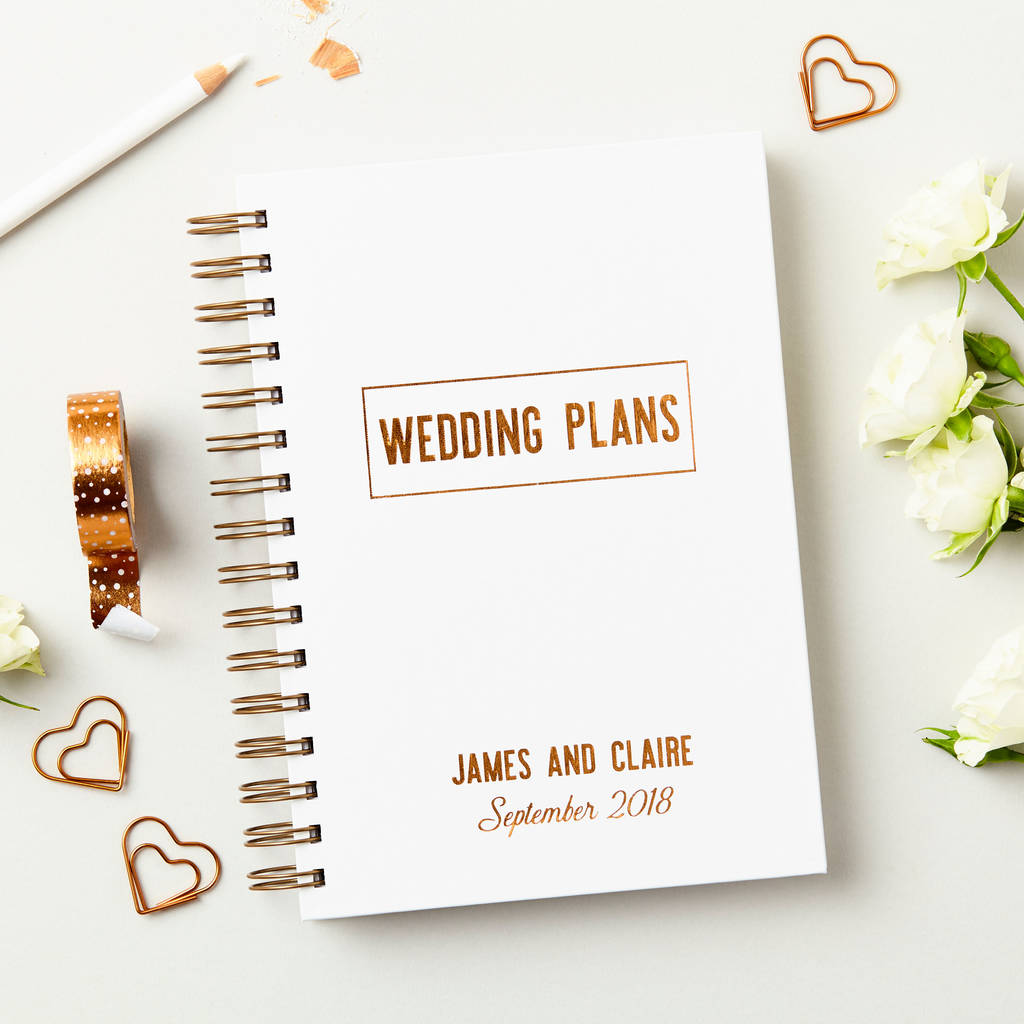 Personalised copper wedding plans book by martha brook personalised copper wedding plans book junglespirit Image collections
