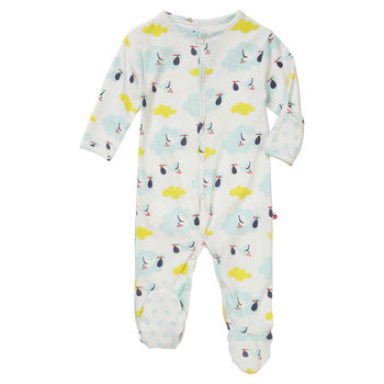 Stork Footed Baby Sleepsuit