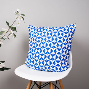 Geometric Tile Organic Cotton Cushion