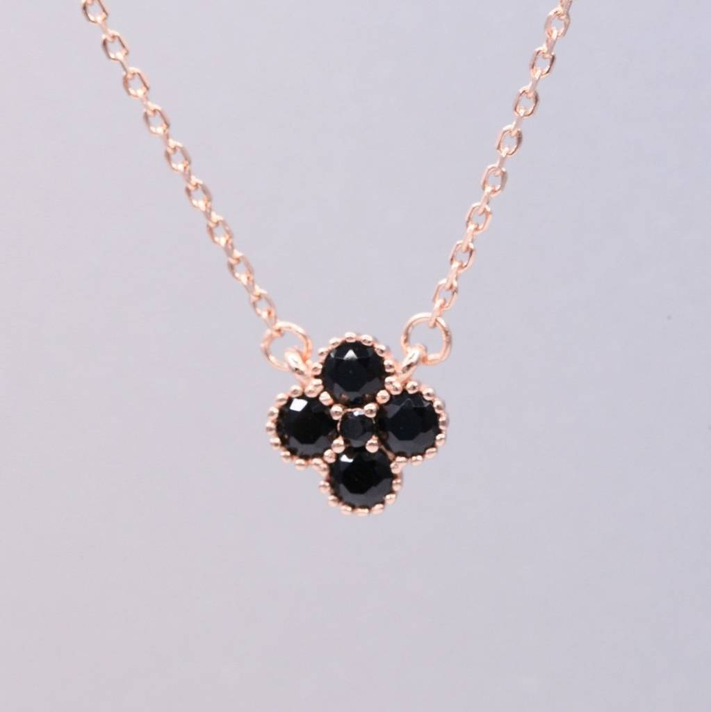 Rose gold four leaf clover pendant necklace by attic rose gold four leaf clover pendant necklace aloadofball Image collections