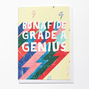 Grade A Genius Graduation Card