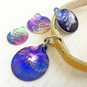Personalised Pet ID Tag Cosmos Bauble - pet tags & charms