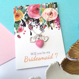 Bridesmaid Pink Heart Or Star Necklace - necklaces & pendants