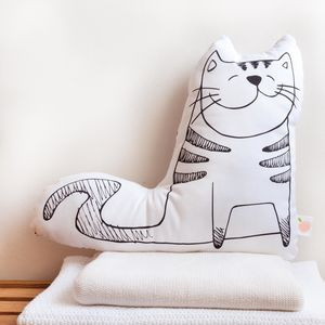 'George The Cat' Decorative Cushion - nursery cushions