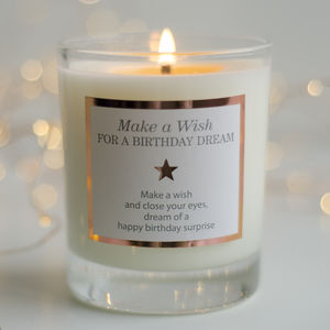 'Make A Wish For A Birthday Dream' Birthday Candle