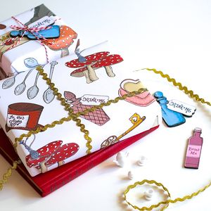 Alice In Wonderland Wrapping Paper Gift Set - summer sale