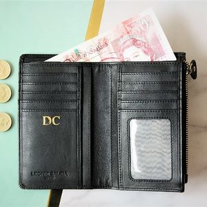 Personalised Small Leather Wallet - top leather accessories