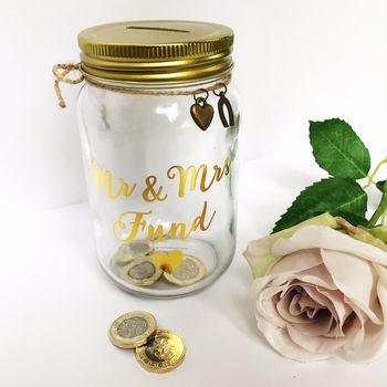 Mr And Mrs Fund Jar Money Box