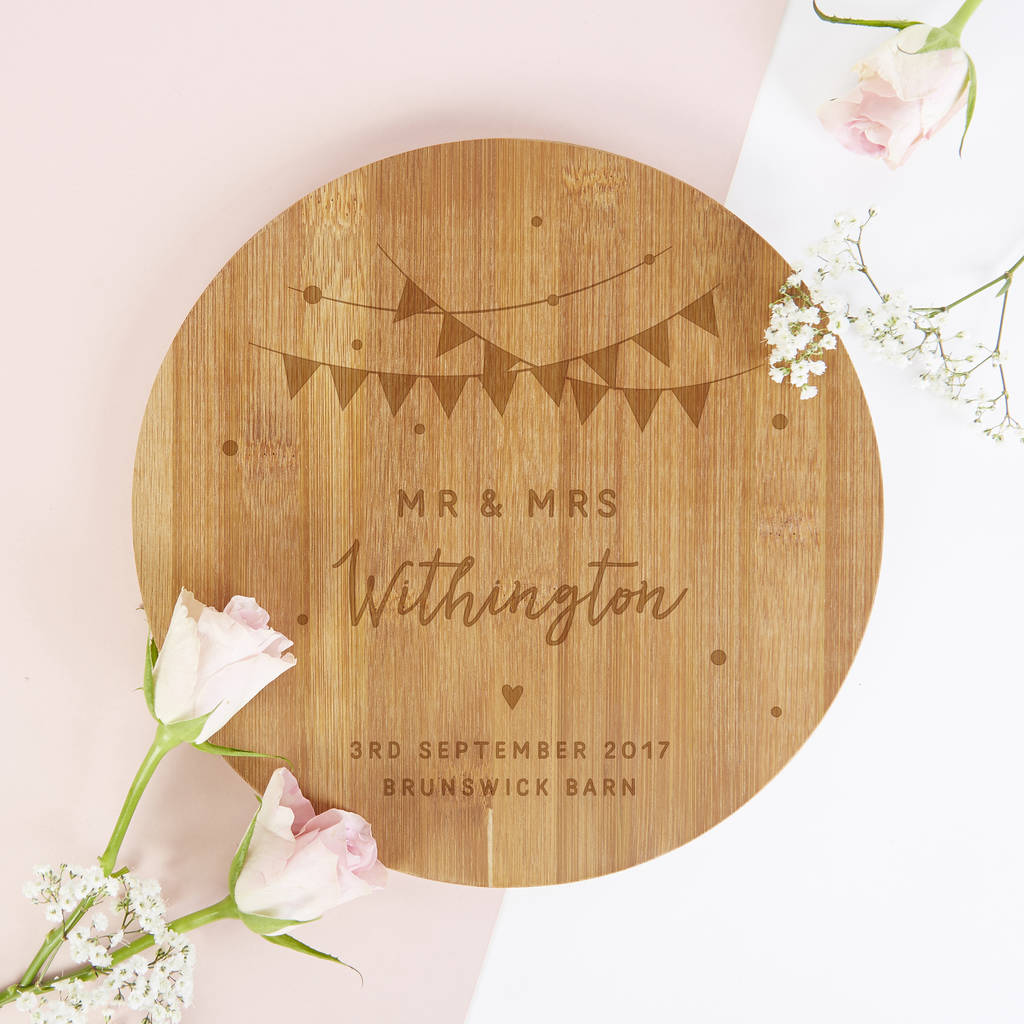 Personalised Wedding Gift Festival Wooden Board