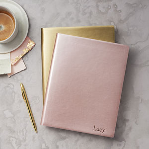 Metallic Leather Notebook - gifts for her