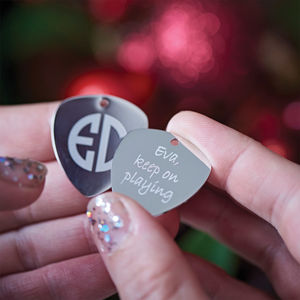 Engraved Monogram Guitar Plectrum - top unique gifts