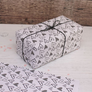 Heart Print Mini Wrapping Paper - wrapping paper & gift boxes