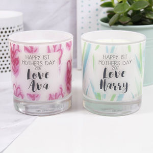 Personalised 1st Mother's Day Tin Scented Candle - living & decorating
