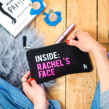 Personalised Inside My Face Make Up Bag
