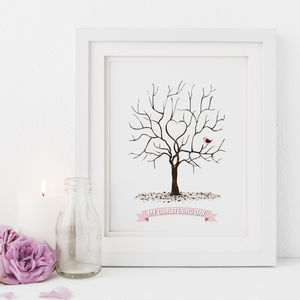 Christening Fingerprint Tree Print - pictures & prints for children
