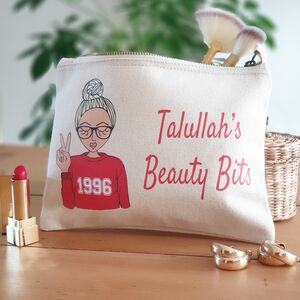 Create Your Own 'Year You Were Born Sweater' Makeup Bag