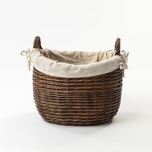 The Canterbury Basket With Cotton Liner - log baskets
