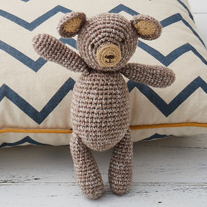 Hand Crochet Bobby Bear Baby Rattle - gifts for children