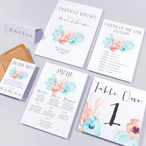 Table Plan, Number, Place Card, Menu:Flotsam And Jetsam