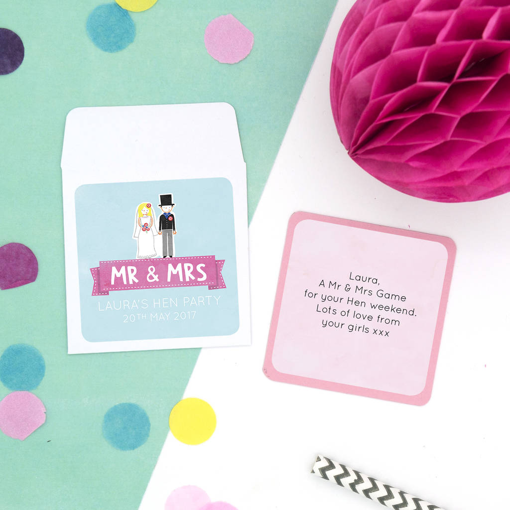 Personalised 'his And Hers' Hen Party Game By Cotton Twist