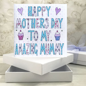 Personalised Mummy Mothers Day Book Card