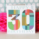 Milestone Birthday Card Age 30 To 90