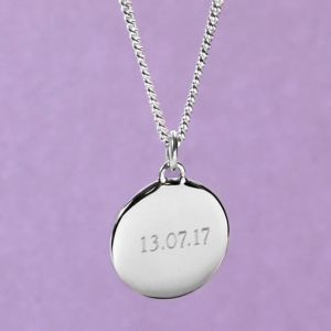 Personalised Men's Silver Pebble Necklace - necklaces