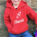 Rocket Personalised Children's Hoodie