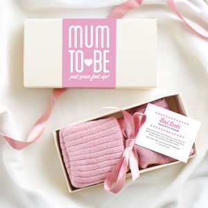 Personalised Mum To Be Bed Socks - mum loves breakfast in bed