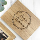 Personalised Couples' Keepsake Box With Wreath Design