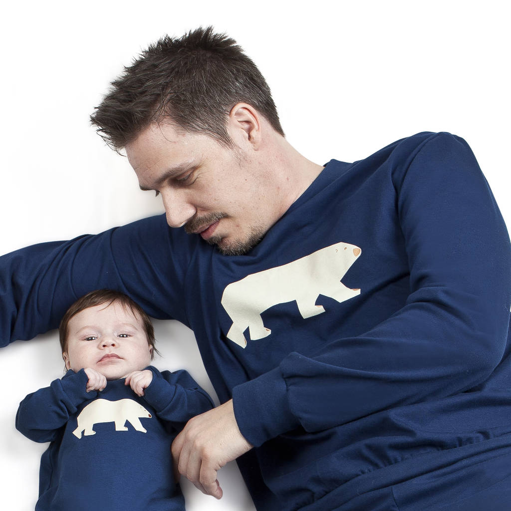 b9423075 dad and baby matching pyjamas polar bear by pj mamma ...