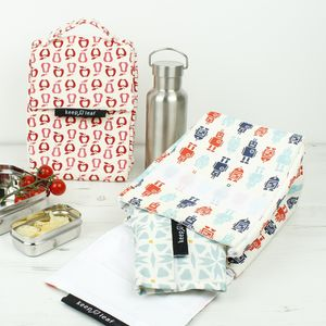 Organic Cotton Insulated Lunch Bags